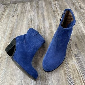 Vince Camuto Holden Blue Short Ankle Bootie